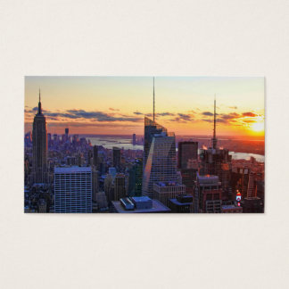 NYC Skyline: ESB, Bank of America, 4 Times Sq 001 Business Card