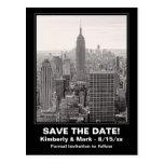 NYC Skyline ESB BW 1 Save the Date Postcard