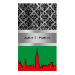 NYC Skyline: ESB Christmas Silhouette Business Cards