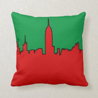 NYC Skyline: ESB Christmas Silhouette Throw Pillow