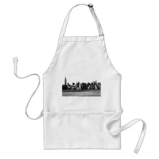 NYC Skyline ESB, East River View 001 Adult Apron
