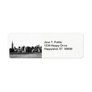 NYC Skyline ESB, East River View 001 Return Address Label