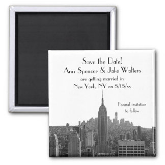 NYC Skyline ESB Top of the Rock Save the Date Magnet