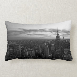 NYC Skyline, ESB WTC at Sunset BW Pillow