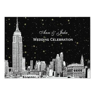 NYC Skyline Etch Starry DIY BG Wedding Invite