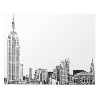 NYC Skyline Etched 01 Memo Pads