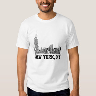 NYC Skyline Etched 01 T Shirt