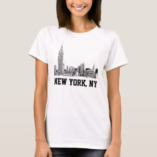 NYC Skyline Etched 01 T-Shirt