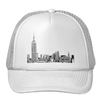 NYC Skyline Etched 01 Trucker Hat
