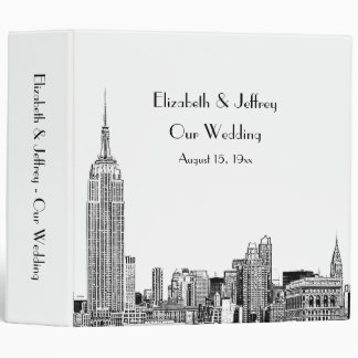 NYC Skyline Etched 01 Wedding Binder