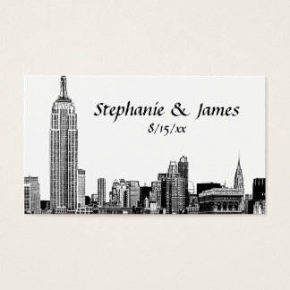 NYC Skyline Etched 01B Place Cards