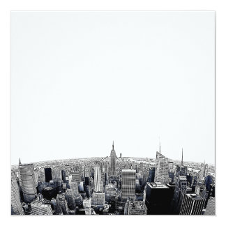 NYC Skyline Etched Fisheye View Card