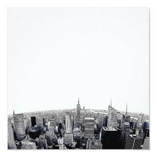 NYC Skyline Etched Fisheye View Invitation