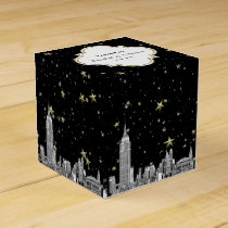 NYC Skyline Etched Starry DIY BG Color Favor Box
