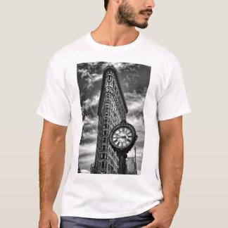 NYC Skyline: Flatiron Building and Clock BW T-Shirt
