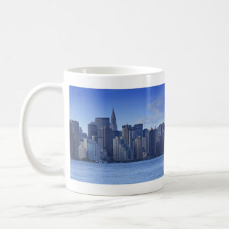 NYC Skyline From East River: Chrysler, Met Life Coffee Mug