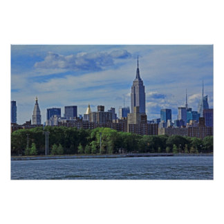 NYC Skyline from the East River 002 Poster