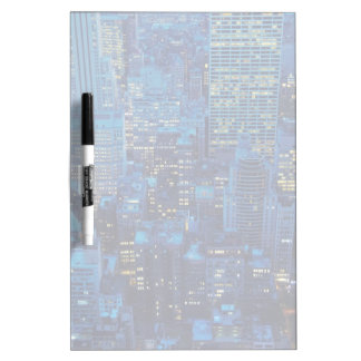 NYC Skyline, high angle view at dusk Dry-Erase Board