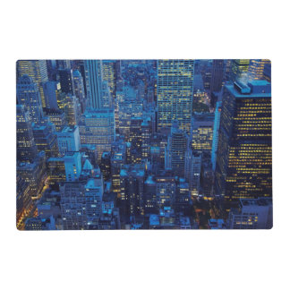 NYC Skyline, high angle view at dusk Placemat