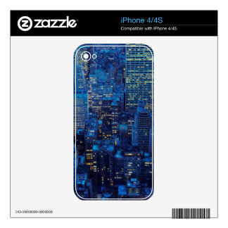 NYC Skyline, high angle view at dusk iPhone 4 Decal