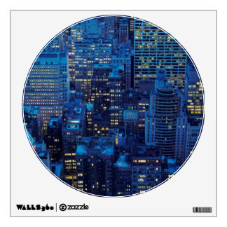 NYC Skyline, high angle view at dusk Wall Stickers