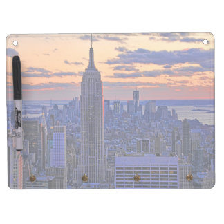 NYC Skyline just before sunset #2 Dry Erase Board With Keychain Holder
