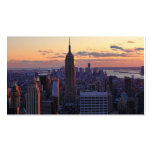 NYC Skyline just before sunset Double-Sided Standard Business Cards (Pack Of 100)