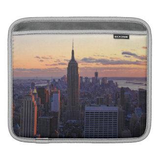 NYC Skyline just before sunset iPad Sleeves