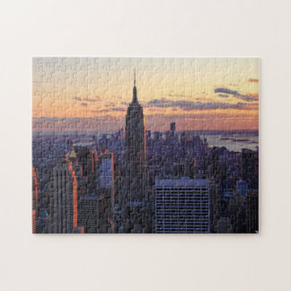 NYC Skyline just before sunset Jigsaw Puzzle