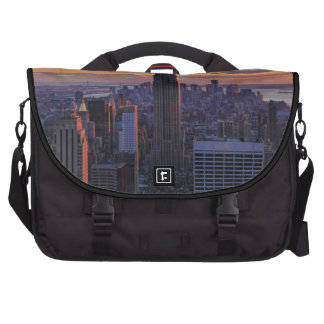 NYC Skyline just before sunset Laptop Bag