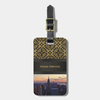 NYC Skyline just before sunset Luggage Tag