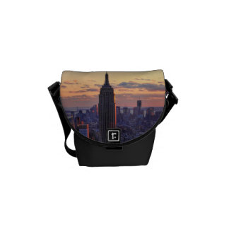 NYC Skyline just before sunset Messenger Bag