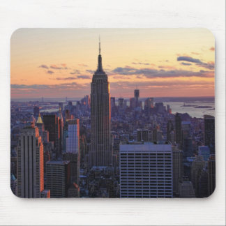 NYC Skyline just before sunset Mousepads