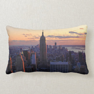 NYC Skyline just before sunset Pillow