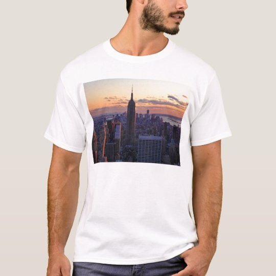 NYC Skyline just before sunset T-Shirt