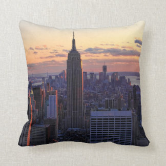 NYC Skyline just before sunset Throw Pillow