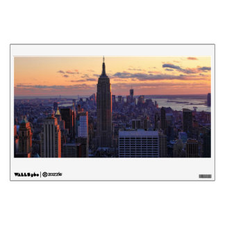 NYC Skyline just before sunset Wall Sticker