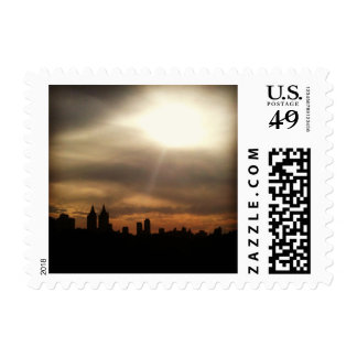 "NYC Skyline, ""Let the Sun Shine In"" Postage Stamp"