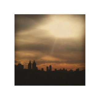 "NYC Skyline, ""Let the Sun Shine In"" Wood Art"