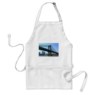 NYC Skyline: Manhattan Bridge #3 Adult Apron