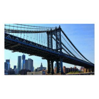 NYC Skyline: Manhattan Bridge #3 Business Card