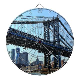 NYC Skyline: Manhattan Bridge #3 Dart Boards