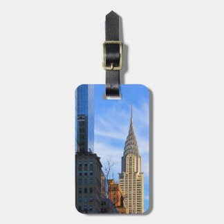 NYC Skyline: Midtown View of the Chrysler Building Bag Tag