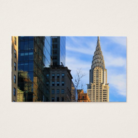NYC Skyline: Midtown View of the Chrysler Building Business Card