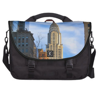 NYC Skyline: Midtown View of the Chrysler Building Laptop Commuter Bag
