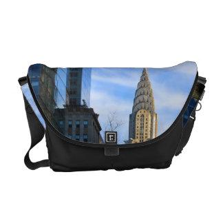 NYC Skyline: Midtown View of the Chrysler Building Messenger Bag