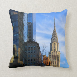 NYC Skyline: Midtown View of the Chrysler Building Throw Pillow