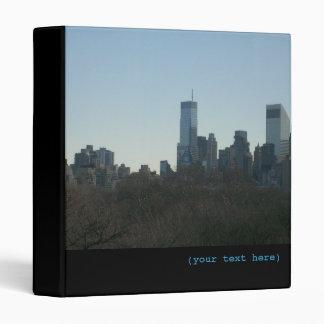 NYC Skyline over Central Park 3 Ring Binder