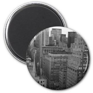 NYC Skyline Photo 2 Inch Round Magnet