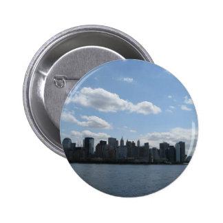 NYC skyline Pinback Buttons